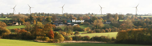 How the turbines would appear from the Barrow Hill footpath